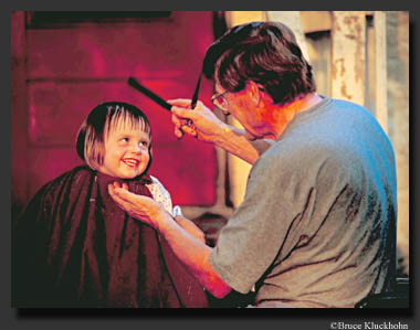 Photo of Little Girl getting a Haircut
